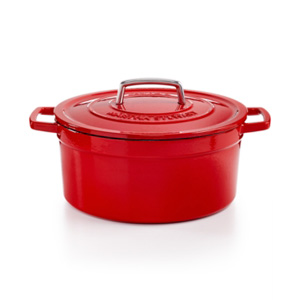 Martha Stewart Enameled Cast Iron 6 qt. Round Casserole, from Macy's