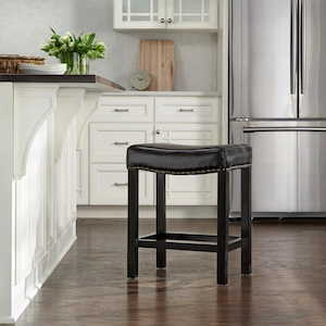 Cushioned Curved Counter Stool