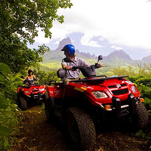 Tour the lush island of Moorea by ATV