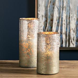 Zuri Metallic Ombre Vases